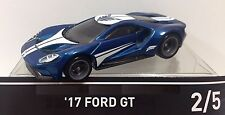 HOT WHEELS '17 FORD GT BLUE FORZA MOTORSPORT #2/5 RETRO DIECAST SCALE 1/64