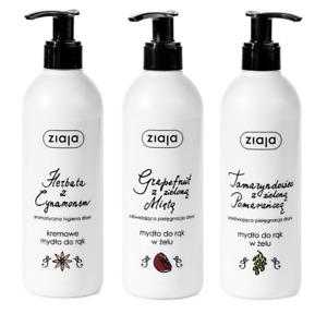 ZIAJA HAND SOAP TEA & CINNAMON / GRAPEFRUIT / TAMARIND