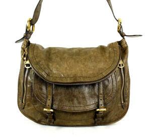 ALEXANDER McQUEEN $1,840 Olive Brown Leather FLAPPER Messenger Bag