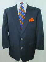 Corneliani Men's Pure Wool Solid Dark Blue Italian Blazer Jacket Sport Coat 44 S