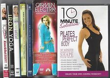 Lot of (9) Fitness Dvds ~ Walden Smith Pilates Yoga Weights Aerobic Striptease