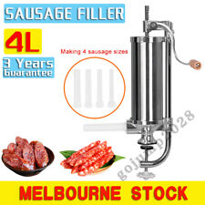 4L Sausage Filler Stuffer Maker Commercial 304 Stainless Steel Meat Machine AU