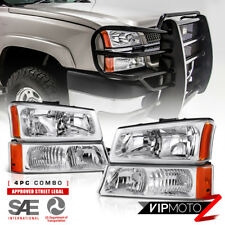 2003-2006 Chevy Silverado [FACTORY STYLE] 03-05 Avalanche Headlights Bumper Lamp