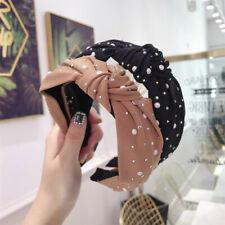 Fashion Hairband Rhinestone Pearl Headband knotted knot Wide Hair Accessories