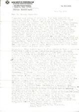 Mas Oyama Kyokushinkai Karate Very Rare Signed 2 Page Letter 1964 with Envelope