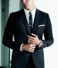 gris pour hommes 3cm Pince à cravate - Solide Acier inoxydable Extra Fin Noir