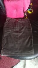 Jupe en jean marron/gris Stella Mc Cartney for H&M, T36