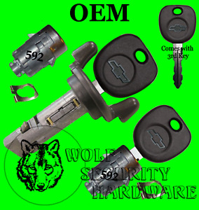 Silverado Others 2001 Ignition Key Switch Cylinder & Door Lock Set 3 Chevy Keys