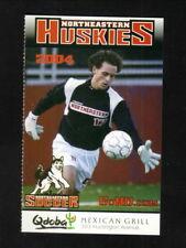 Northeastern Huskies--2004 Soccer Pocket Schedule--Qdoba