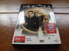 HEROES SEASON 3 DVD SET R4 ZACHARY QUINTO MILO VENTIMIGLIA  **BRAND NEW**