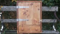 VICTORIAN PINE RUSTIC ANTIQUE WALL CUPBOARD WITH DRAWER