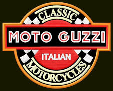 "MOTO GUZZI EMBROIDERED PATCH ~4-1/2"" x 3-1/2"" MOTORCYCLE PARCHE BORDADO AUFNÄHER"