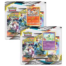 Pokemon Cosmic Eclipse 3 Pack Blisters x2 ft. Victini & Celebi - PRE-ORDER 01/11