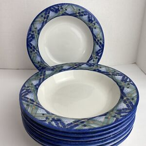 Footed Cream Soup Bowl /& Saucer Set The Kirkwood Blue by ROYAL DOULTON