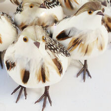 """Artificial Birds Brown Feather Birds Nature Quail Craft Supply 2Pc 4.75"""""""