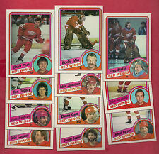 1984-85 TOPPS DETROIT RED WINGS  CARD LOT