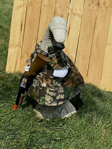 Cement goose clothes outfit Hunter Hunting Camo Med to Large Size