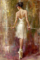 CHOP245  100% hand-painted modern dancing girl decor art oil painting on canvas