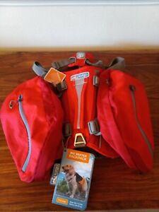 Kurgo Big Baxter Backpack (50-110 lbs 22-50 kg) - Chili/Barn Red 7.5L New