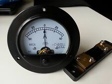 Round Analog AMP Panel Meter + / - DC 50A & Shunt 62T2 65C5 Ammeters