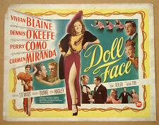 DOLL FACE Vivian Blaine CARMEN MIRANDA Perry Como DENNIS O'KEEFE 22x28 POSTER