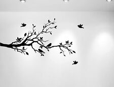 "Tree Branches Wall Decal Love Birds Vinyl Sticker Nursery Leaves 56"" W X 28"" H"