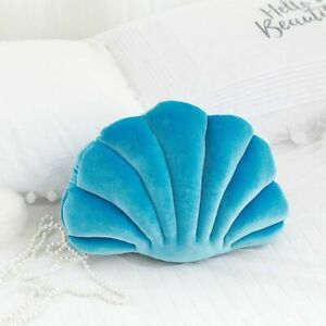 Sea Shell Stuffed Pillow Velvet Throw Sofa Seat Back Cushion Home Luxury Decor