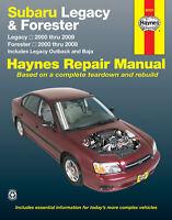 Subaru Liberty, Forester incl Outback & Baja 2000-2009 Repair Manual