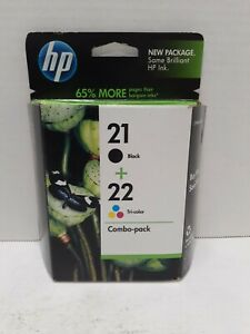 Genuine HP 21 black 22 Tri-color Ink Cartridge Combo (Sealed) Exp. 2012.