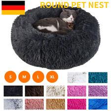 S-XXXL Plüsch Hundebett Katzenbett Hundekissen Hundekorb Schlafplatz Rund Donut