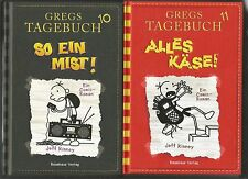 2 x GREGS TAGEBUCH: Jeff Kinney. Band 10+11: So ein Mist! + Alles Käse! Gebunden