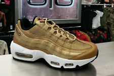 2017 Nike Air Max 95 Premium QS SZ 9.5 Metallic Gold Medal White 918359-700