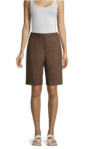 Eileen Fisher Organic Linen Cocoa Walking Short Size 16