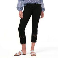Women's Lauren Conrad Crochet Black Skinny Ankle Jeans Size 4  NEW!