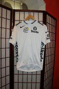 Nike Tour De France 2008 white cycling jersey size S . ALY