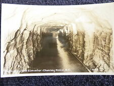 1940's RPPC Tunnel to the Elevator, Chimney Rock near Asheville, NC PC Cline