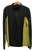 Lululemon Men's Jacket Medium Gray Yellow Full Zip Sweatshirt Yoga Running