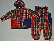 NWT Infant Boy 6-12 M Obermeyer Blue/Red Plaid Winter Jacket/Coat~Snowpants $149