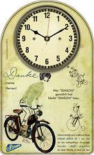 Simson SR 1 DDR Oldtimer Moped Wanduhr Geschenk Classic Bike Deko