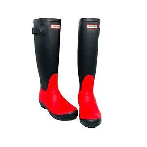 Rare Hunter Original Ribbed Leg Rain Boots Size 7M/8W New W/O Box