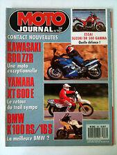 N°931 MOTO JOURNAL; Kawa 600 ZZr/ Yam XT 600 E/ BMW K 100 RS/16 S/ DR 500 Gamma