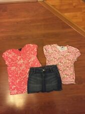 GapKids Girl's Three Piece Clothing Lot Jean Skirt and Two Tops Size 12