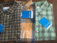 NWT Columbia Out And Back II Long Sleeve Cotton Shirt Plaid Sz S/M/L/XL/2XL $50