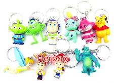 Lot 1set 10pcs Characters Plastic Charms Pendants Key Chain Keychains