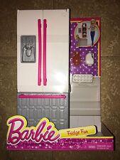 New Barbie Doll Fridge Fun Playset Kitchen Food Refrigerator Furniture House