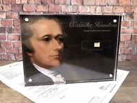 ALEXANDER HAMILTON SIGNED HANDWRITTEN WORD JSA LOA AUTHENTIC HISTORY GIFT