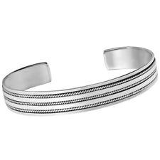 TreasureBay Mens Solid 925 Sterling Silver Bangle Bracelet