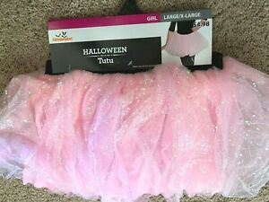 Tutu Skirt Sparkly Pink Dress Up Costume Ballet Dance Size Girls L XL