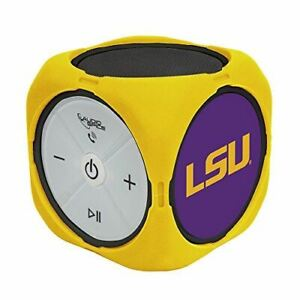 AudioSpice NCAA LSU Tigers MX-300 Cubio Bluetooth Speaker, Black, One Size