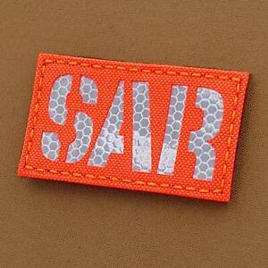 SAR 3M SOLAS Blaze Orange Hi Viz Search Rescue CSAR tactical morale patch